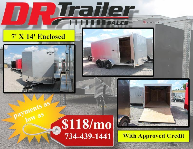 2020 Impact Trailers 7X14RD Enclosed Cargo Trailer