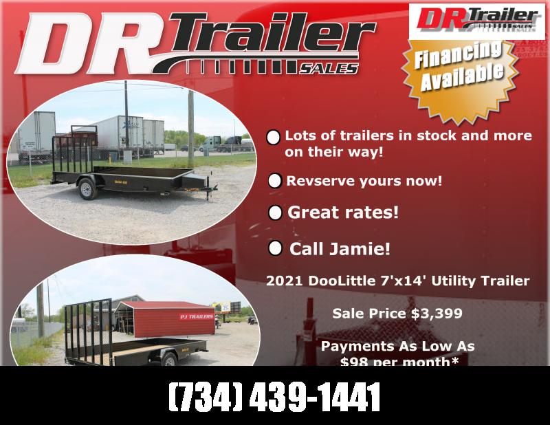 2021 DooLitttle Trailers 7' X 14' RG LANDSCAPE UTILITY TRAILER Utility Trailer