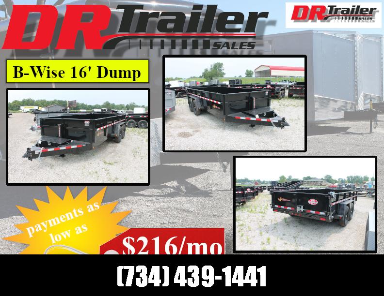2022 BWISE 16' 15K GVWR DUMP TRAILERT Dump Trailer