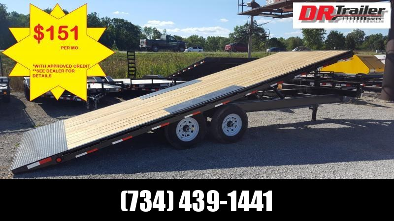 PJ Trailers 22 Equipment Power Tilt Flatbed Trailer