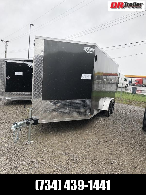 "2021 Impact Trailers 7' X 23' + 12"" SNOW Snowmobile Trailer"