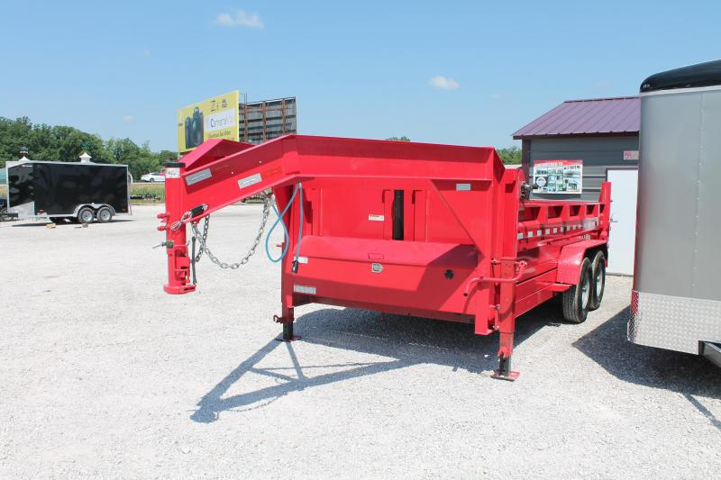 2020 Sure-Trac 14' DL GN Flatbed Trailer