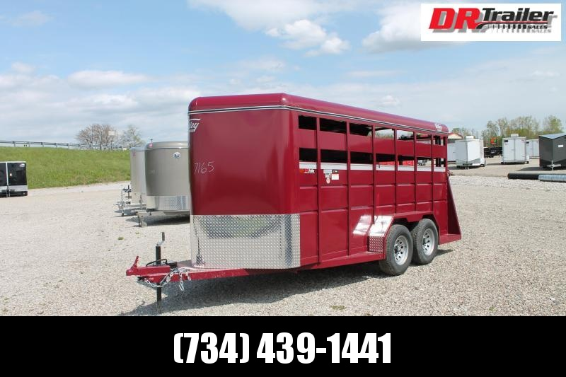 2022 Valley Trailers 16' STOCK TRAILER Livestock Trailer
