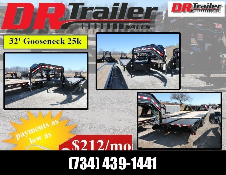 2020 PJ Trailers 32ft Gooseneck Flatbed Trailer
