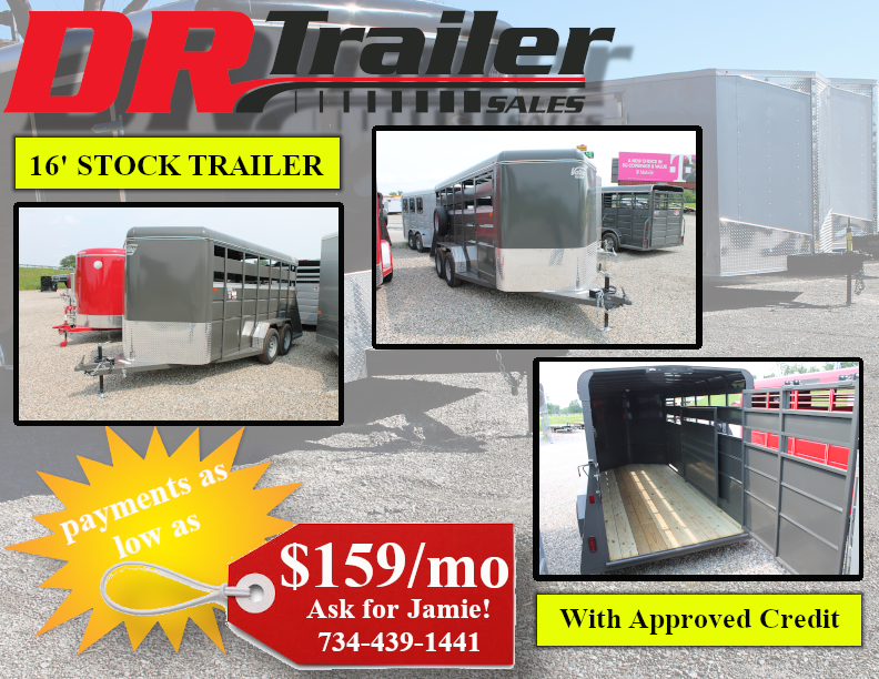 2022 Valley 16' STOCK TRAILER Livestock Trailer
