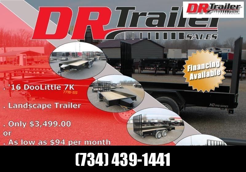 2021 DooLitttle Trailers 16' RG 7K Equipment Trailer