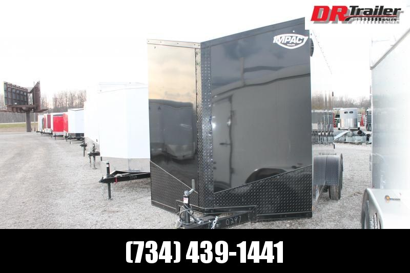 """2021 Impact Trailers 7' X 16' + 12"""" RD Enclosed Cargo Trailer"""