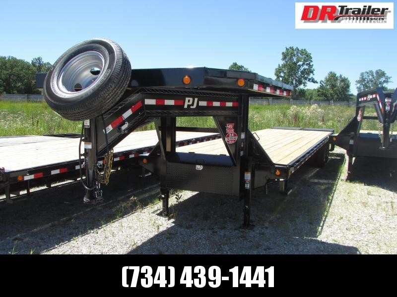 PJ Trailers 35 ft Goseneck Monster Ramps Flatbed Trailer