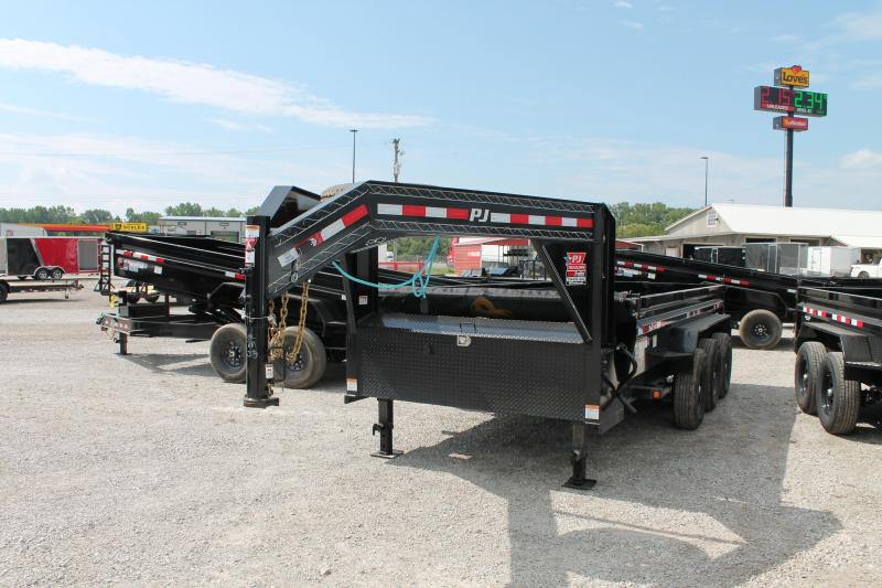 2021 PJ Trailers 16' 21K DL GN Dump Trailer