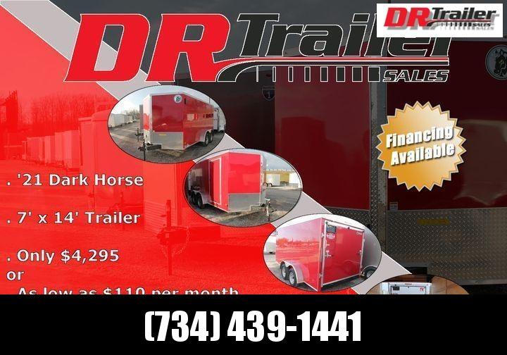 2021 Darkhorse Cargo 7' X 14' RD Enclosed Cargo Trailer