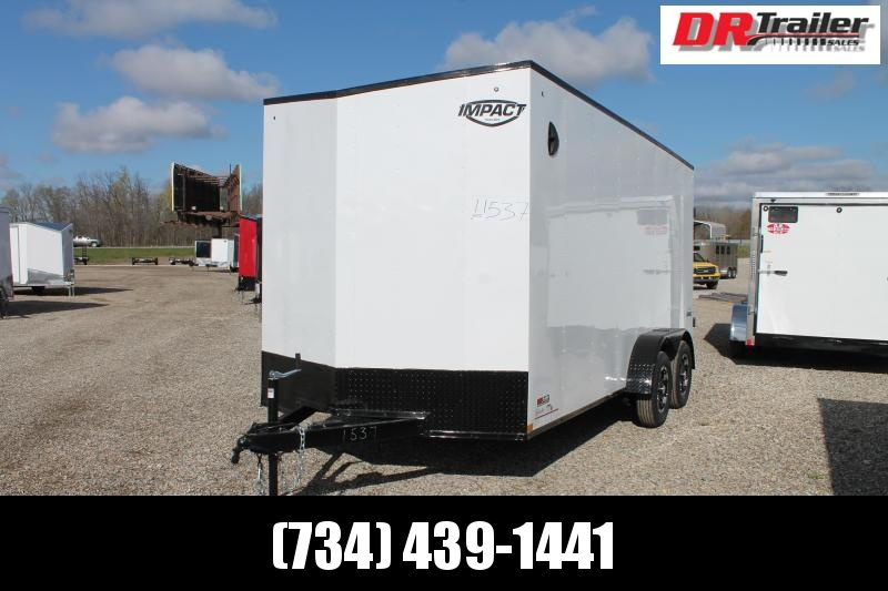 "2022 Impact Trailers 7' X 16' + 12"" RD TRAILER Enclosed Cargo Trailer"
