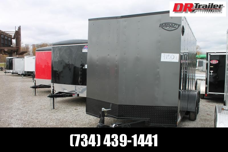 "2021 Impact Trailers 7' X 14' + 12"" RD Enclosed Cargo Trailer"