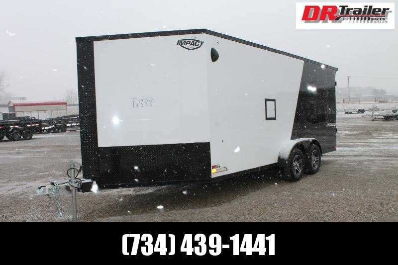 "2022 Impact Trailers 7' X 23' + 12"" RD Snowmobile Trailer"