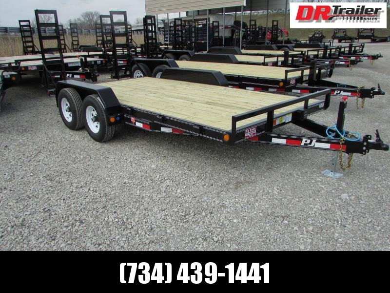 PJ Trailers 16 Skidsteer Equipment Trailer