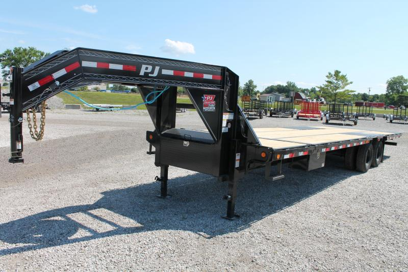 2021 PJ Trailers 28' 25K GN Flatbed Trailer