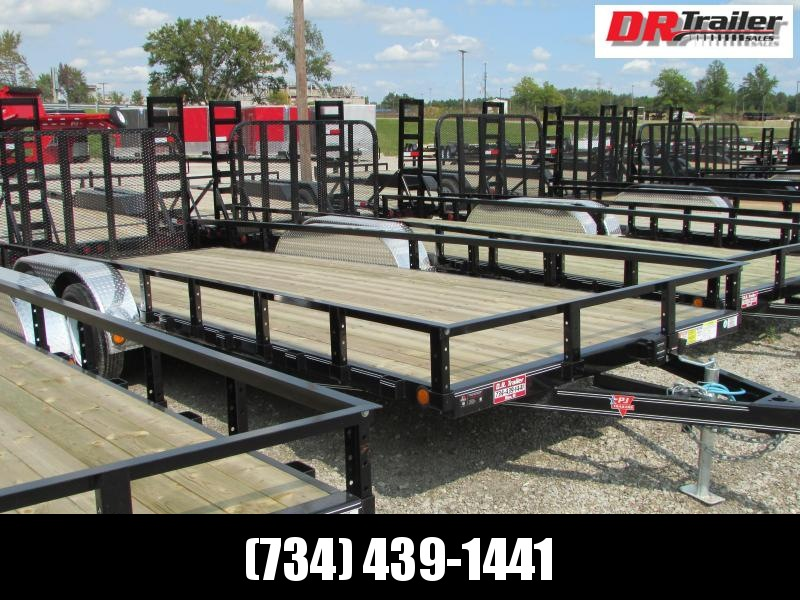 PJ Trailers 16 ft Landscape Commercial Grade Flatbed Trailer