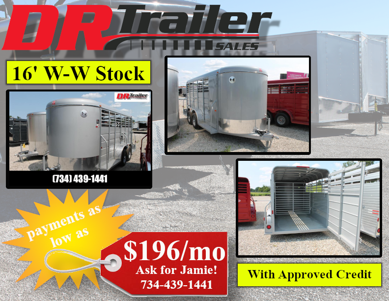 2021 W-W Trailer 16' STOCK TRAILER Livestock Trailer