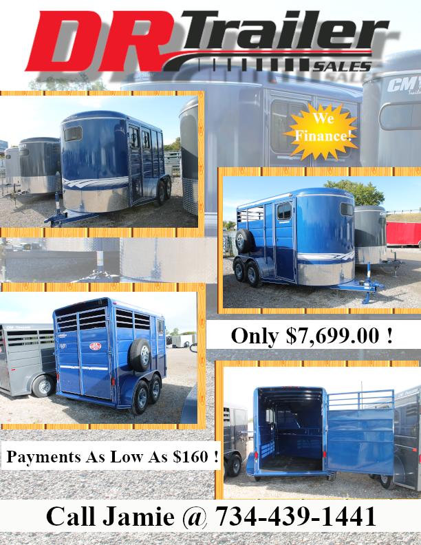 2021 Calico Trailers 2 HORSE Livestock Trailer