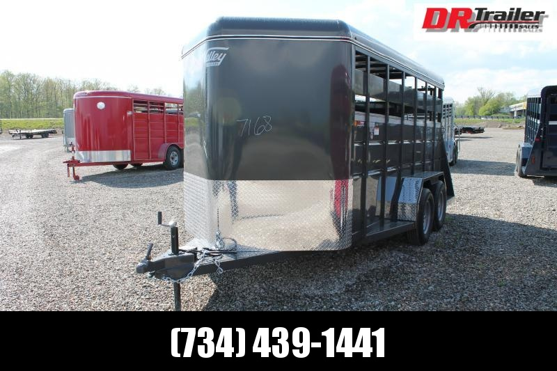 2022 Valley Trailers 16' STOCK ENCLOSED TRAILER Livestock Trailer