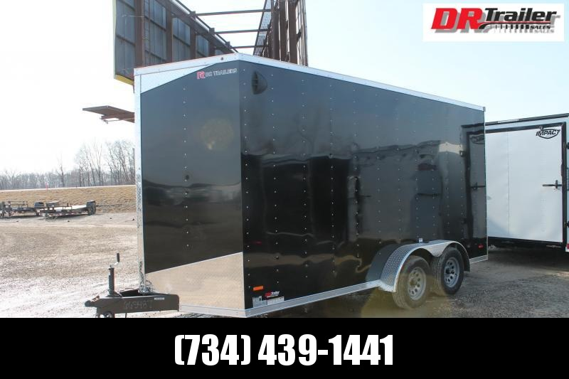 "2021 RC Trailers 7' X 16' + 12"" RD Enclosed Cargo Trailer"