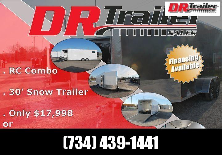 2021 RC Trailers 30' COMBO Snowmobile Trailer