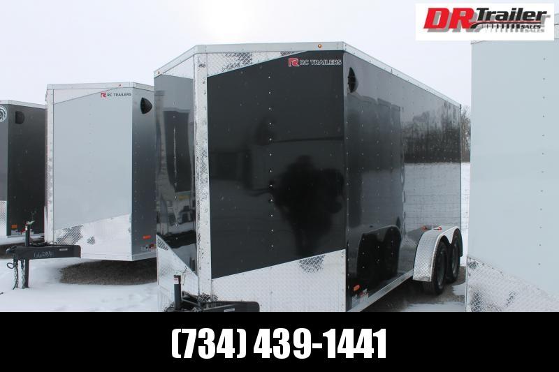 "2021 RC Trailers 7' X 17' + 12"" RD DLX Enclosed Cargo Trailer"
