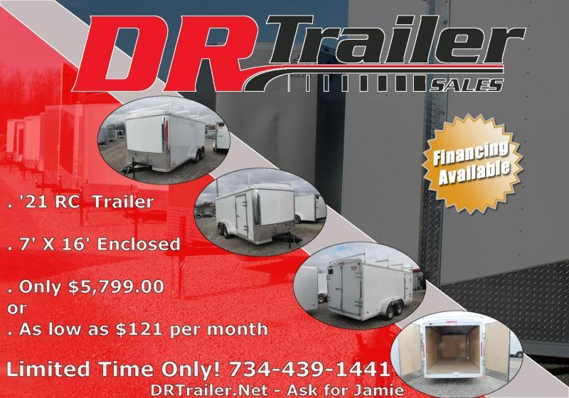 2021 RC Trailers 7' X 16' ROUND TOP ENCLOSED Enclosed Cargo Trailer