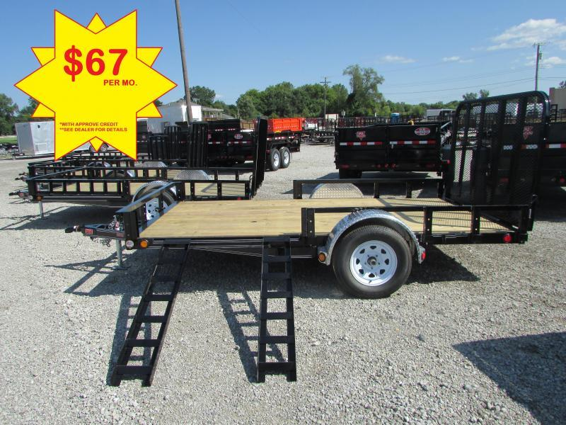 PJ Trailers 12 FT Landscape Utility Trailer BEST DEALS @ DR Trailer