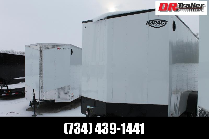 2022 Impact Trailers 7' X 14' WHITE BLACKOUT Enclosed Cargo Trailer