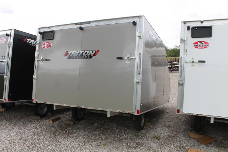 2022 Triton Trailers TC128 ENCLOSED SNOW TRAILER Snowmobile Trailer
