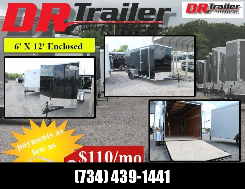 2020 Haul-About 6X12 RD Enclosed Cargo Trailer