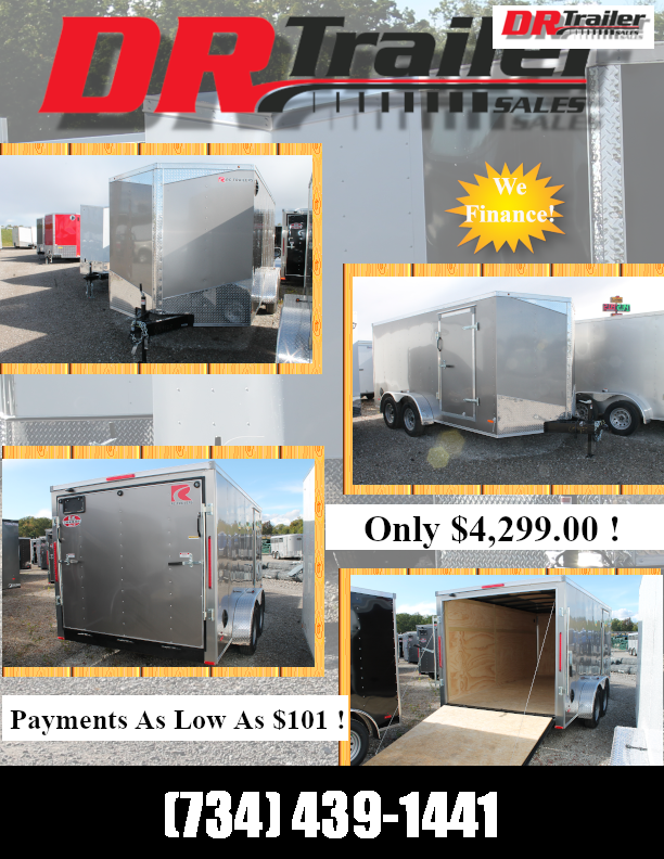 2021 RC Trailers 7' X 14' RD Enclosed Cargo Trailer