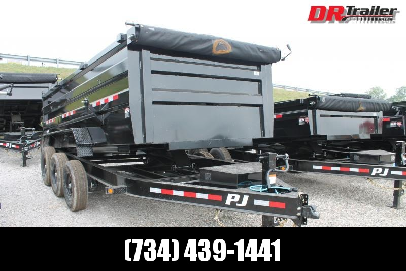 2022 PJ Trailers 16' DM 20K GVWR DUMP TRAILER Dump Trailer
