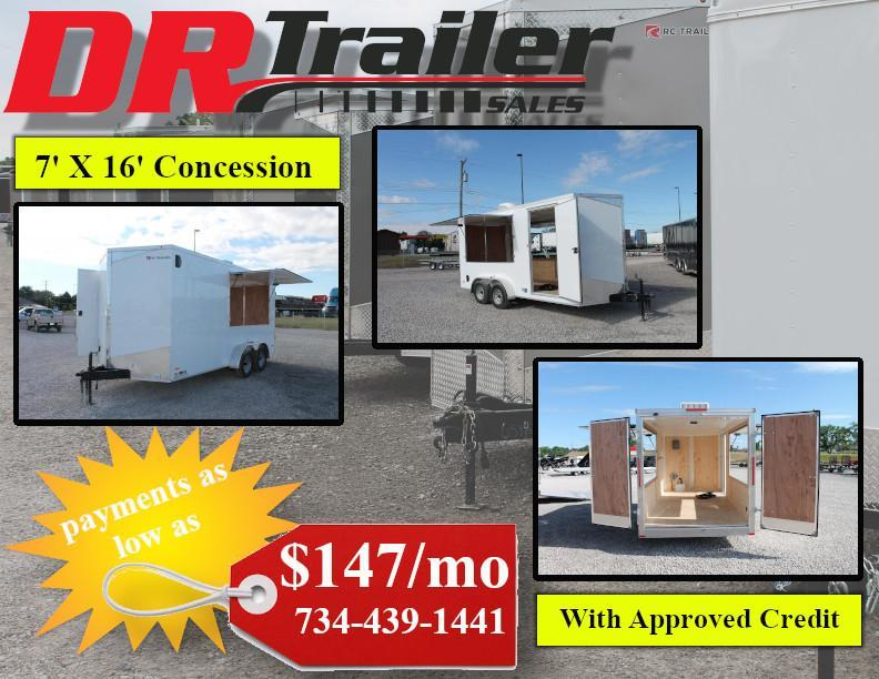 2020 RC Trailers CONCESSION TRAILER Enclosed Cargo Trailer