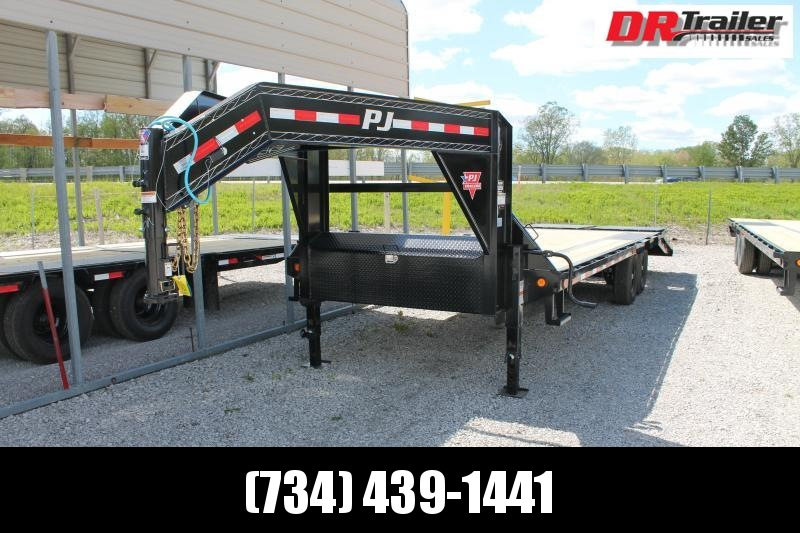 2021 PJ Trailers 25' MR 14K GVWR GOOSENECK Flatbed Trailer