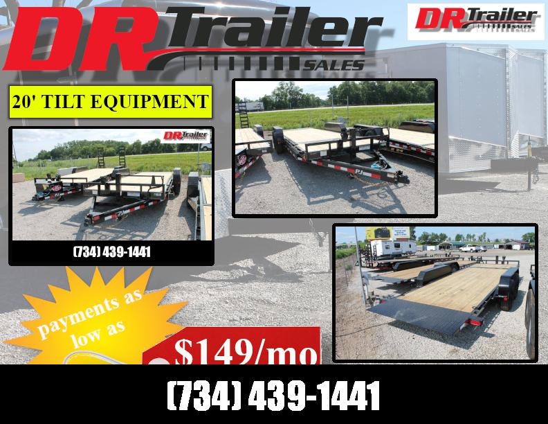 2022 PJ Trailers 20' T6 14K GVWR TILT TEAILER Equipment Trailer