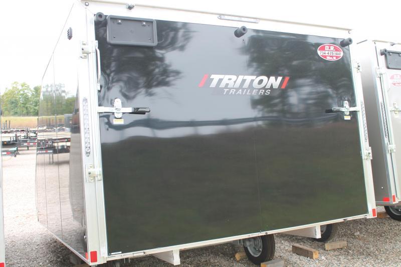2022 Triton Trailers TC 128 ENCLOSED SNOW TRAILER Snowmobile Trailer