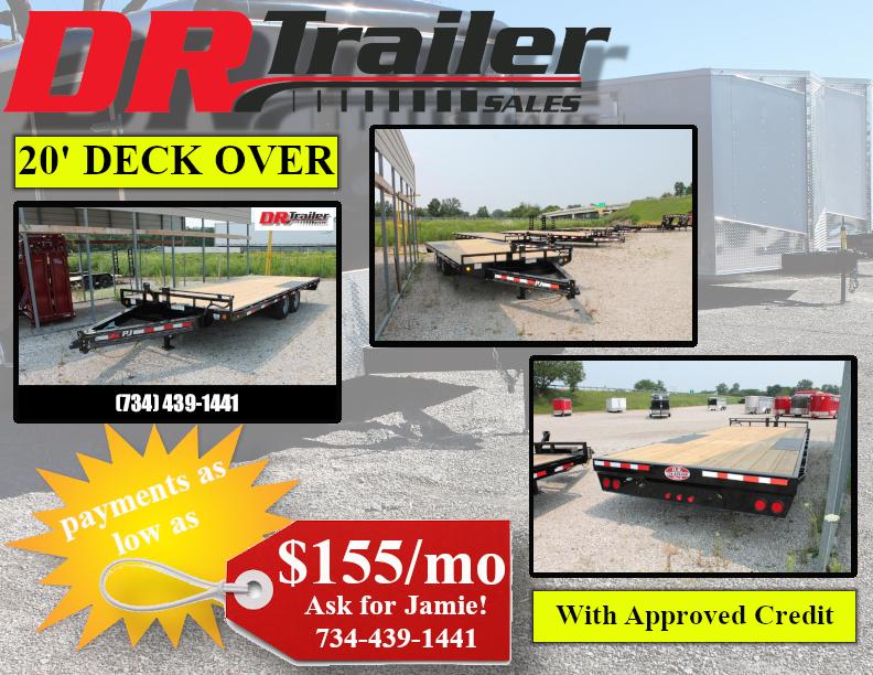2022 PJ Trailers 20' DECK OVER EQUIPMENT TRAILER Equipment Trailer
