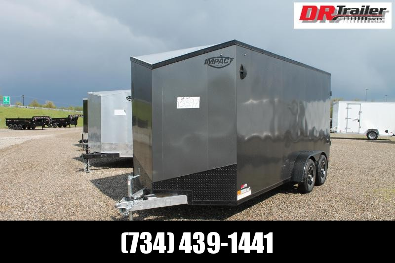 "2022 Impact Trailers 7' X 16' + 12"" ENCLOSED TRAILER Enclosed Cargo Trailer"