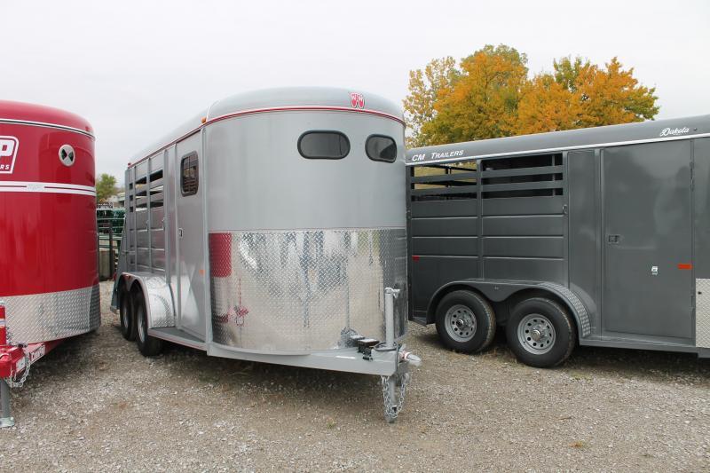 2021 W-W Trailer 2 HORSE Livestock Trailer