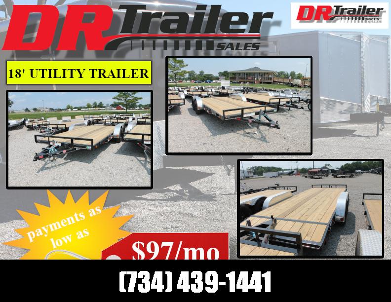 2022 PJ Trailers 18' SR 7K GVWR LANDSCAPE UTILITY TRAILER Utility Trailer