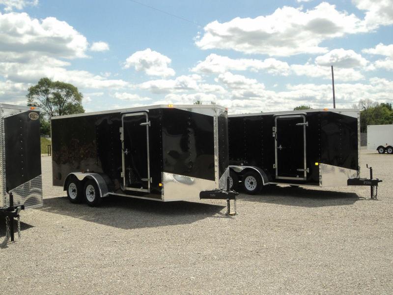 RC Trailers RWT 7X14 TA2 Enclosed Cargo Trailer