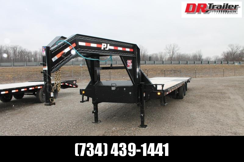 2021 PJ Trailers 32' HYD DOVE Flatbed Trailer