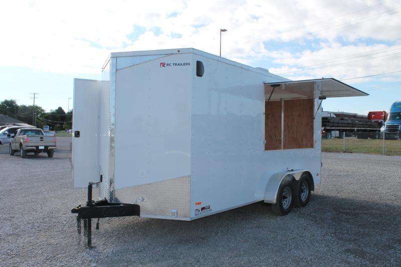 2020 RC Trailers 7' 16' CONCESSION Enclosed Cargo Trailer