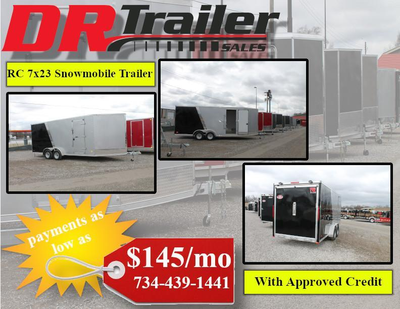 2020 RC Trailers NEW RC Trailers 7x23 Snowmobile Trailer Snowmobile Trailer