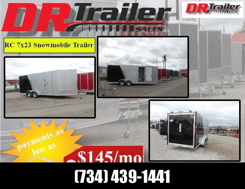 2020 RC Trailers NEW RC Trailers 7x23 Snowmobile Trailer Snowmobile Trailer