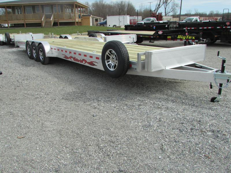 Wolverine Trailers 34 Tri Axle 2 Place Carhauler Flatbed Trailer