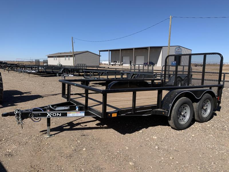 2021 77X12 X-ON Tandem Axle Utility w/Ramp Gate