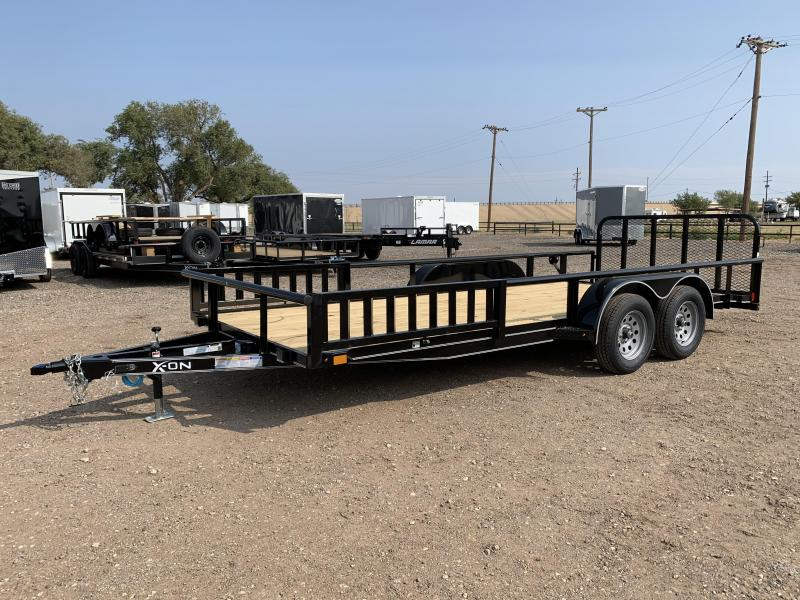 2021 X-On 83X18 X-ON Utility w/Side Ramp Rails Utility Trailer