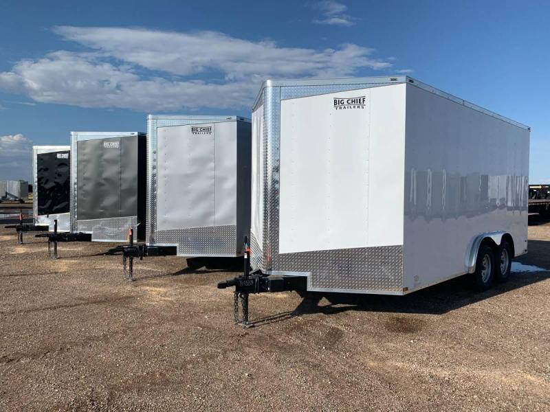 8X16X7 Tandem Axle Enclosed Cargo Trailer w/ 5.2K Axles